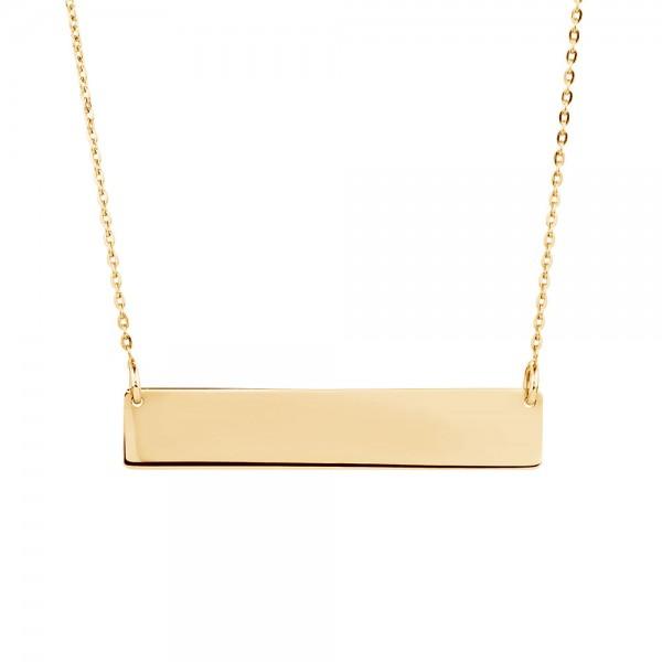 B-WARE Bar Kette mit Gravur - Namenskette gold