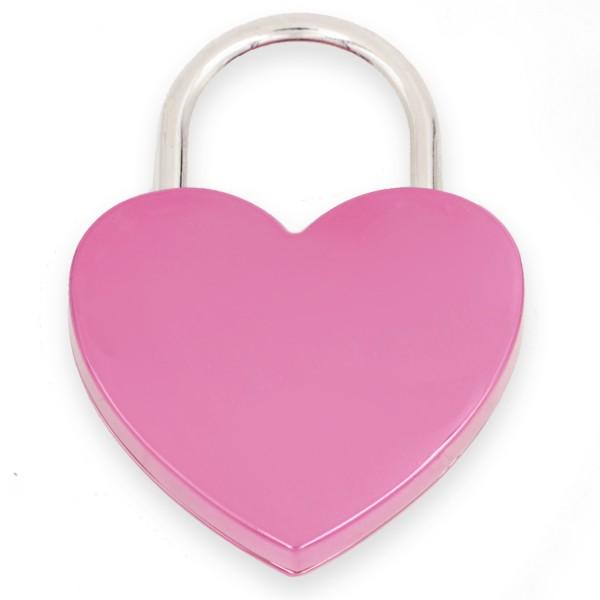 Liebesschloss pink mit Gravur