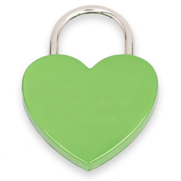 Liebesschloss grün mit Gravur