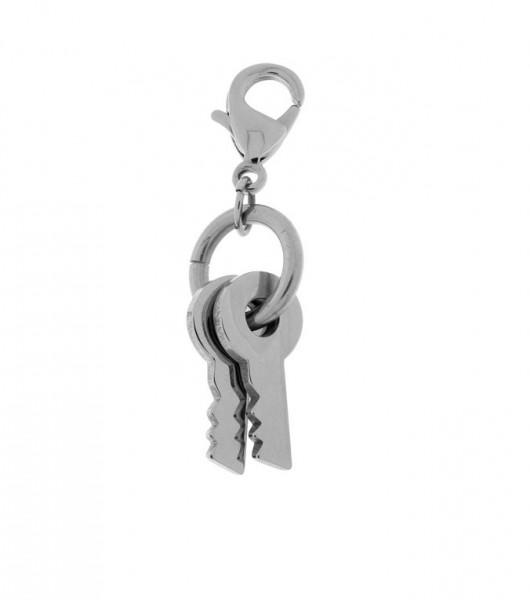 Edelstahl Charm Schlüssel