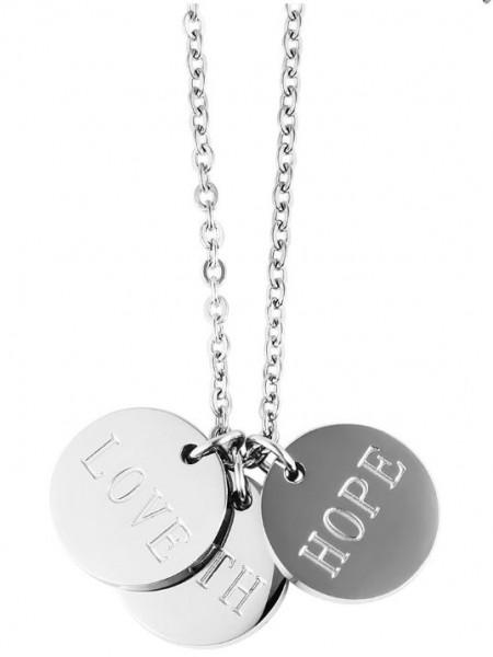 "Anker-Halskette aus Edelstahl silber ""Love With Hope"""