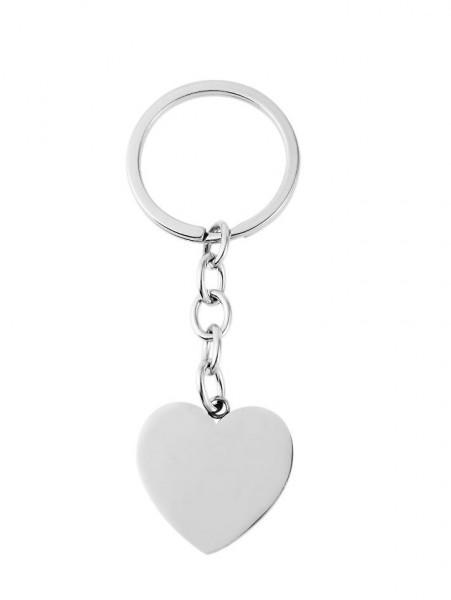 Schlüsselanhänger mit Herz Anhänger und Gravur