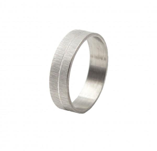Ring aus Edelstahl matt