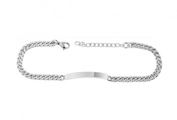Edelstahl Armband silber mit persönlicher Gravur