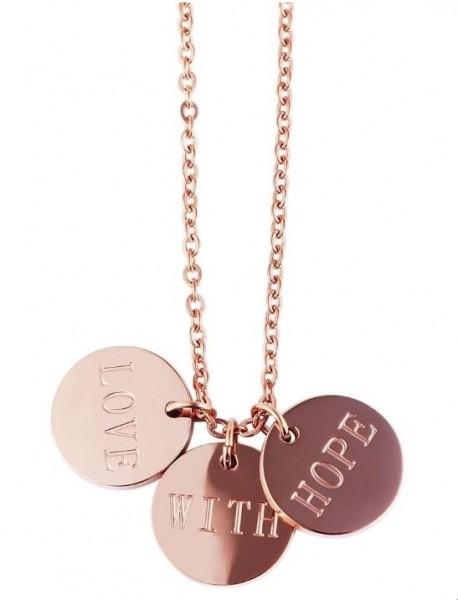 """Anker-Halskette aus Edelstahl roségold """"Love With Hope"""""""